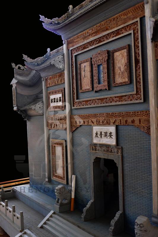 陕西丹凤船帮会馆戏台模型