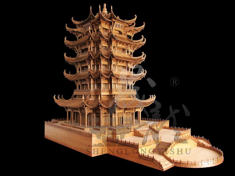 黄鹤楼模型