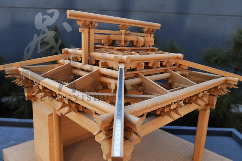 山西临汾牛王庙戏台模型