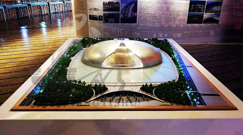 国家大剧院沙盘模型